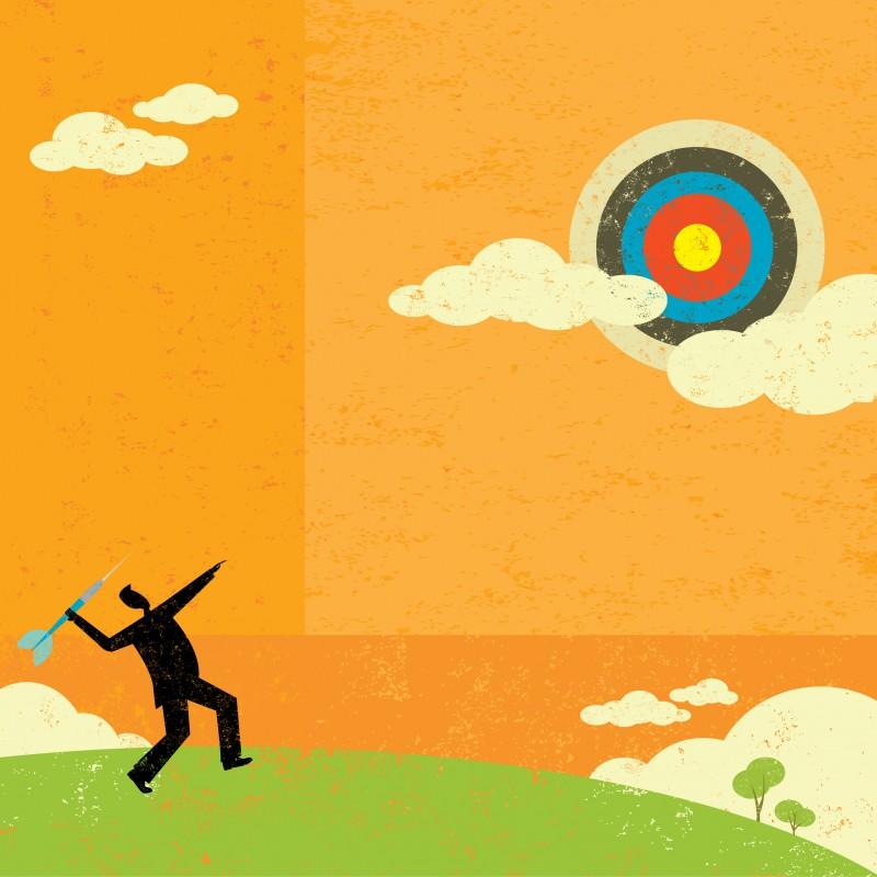 Recruiter-Achieving-Goals-Bullseye