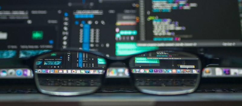a laptop displaying code